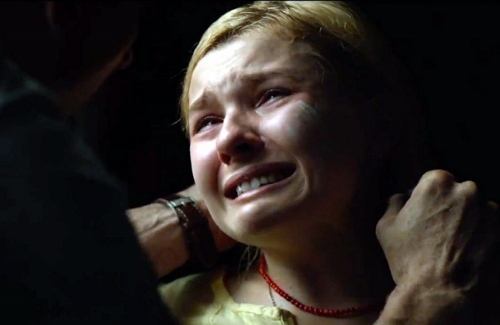 A terrified Abigail Breslin in a scene from 'The Call'