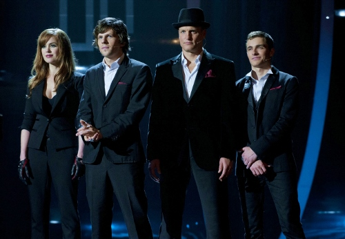 "Isla Fisher, Jesse Eisenberg, Woody Harrelson and Dave Franco are the ""Four Horsemen"" in 'Now You See Me'"