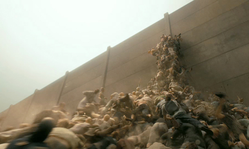 Zombies storm the wall in 'World War Z'