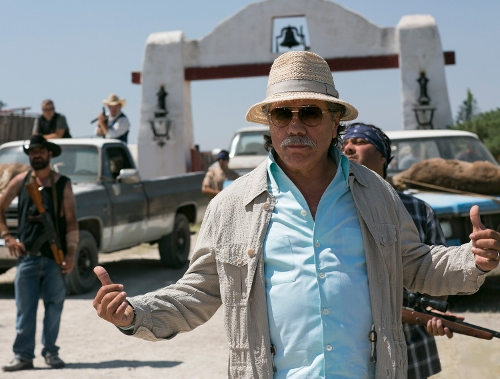 "Edward James Olmos as drug cartel leader ""Papi Greco"" in '2 Guns'"