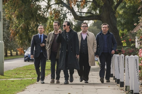 Simon Pegg, Nick Frost and the rest of the main cast of 'The World's End'