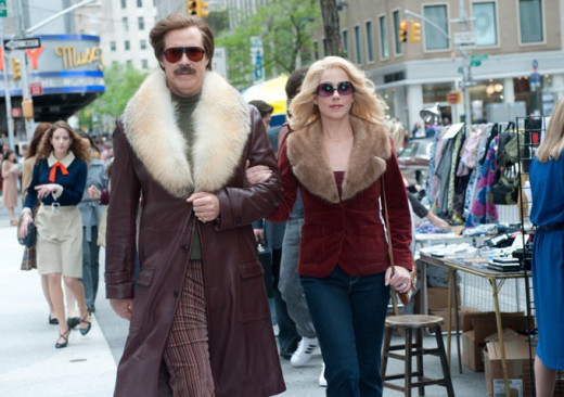 Will Ferrell and Christina Applegate in happy times in 'Anchorman 2: The Legend Continues'