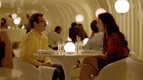 Joaquin Phoenix and Olivia Wilde in 'Her'