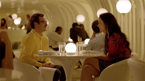 Joaquin Phoenix and Olivia Wilde in 'Her'