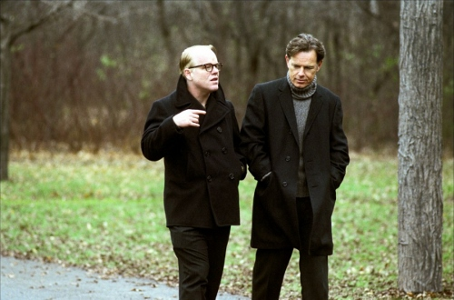 Philip Seymour Hoffman and Bruce Greenwood in 'Capote' the movie that brought Oscar gold to Hoffman