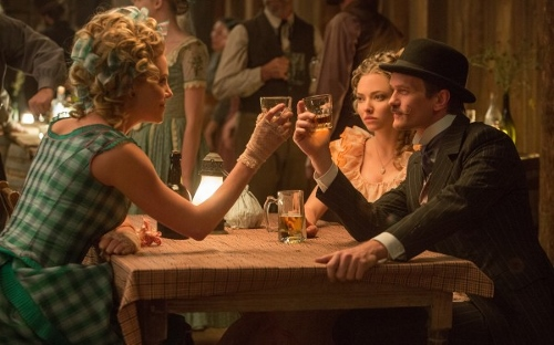 Charlize Theron, Amanda Seyfriend and Neil Patrick Harris in 'A Million Ways to Die in the West'
