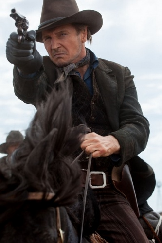 "Liam Neeson is ""Clinch Leatherwood"" in 'A Million Ways to Die in the West'"