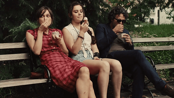Keira Knightley and Hailee Steinfeld in 'Begin Again'