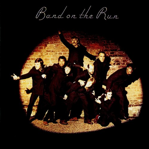 Christopher Lee among others on the cover of the Wings album Band on the Run