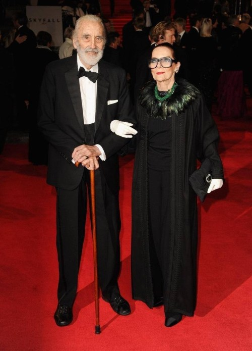 "Christopher Lee and his wife of more than 50 years Birgit ""Gitte"" Kroencke"