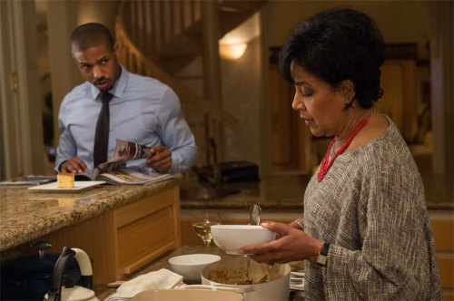 Michael B. Jordan and Phylicia Rashad in 'Creed'