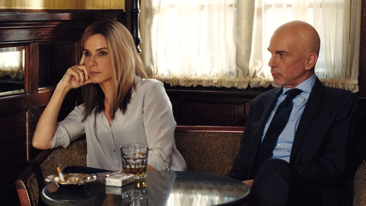 Academy Award winners Sandra Bullock and Billy Bob Thornton in 'Our Brand is Crisis'.