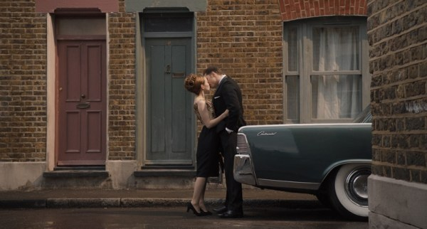 Emily Browning and Tom Hardy in 'Legend'