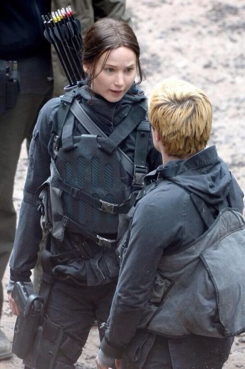 Jennifer Lawrence and Josh Hutcherson in 'The Hunger Games: Mockingjay - Part 2'
