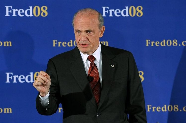 Former U. S. Senator Fred Dalton Thompson during his campaign for the 2008 Presidential Nomination