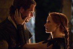 "Eric the Huntsman (CHRIS HEMSWORTH) grows closer to Sara (JESSICA CHASTAIN) in the story that came before Snow White: ""The Huntsman: Winter's War."" Hemsworth and Oscar® winner Charlize Theron return to their roles from ""Snow White and the Huntsman,"" joined by Emily Blunt and Chastain."