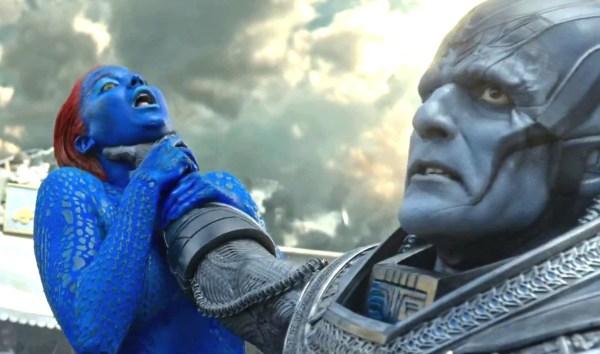 Jennifer Lawrence and Oscar Isaac in 'X-Men: Apocalypse'