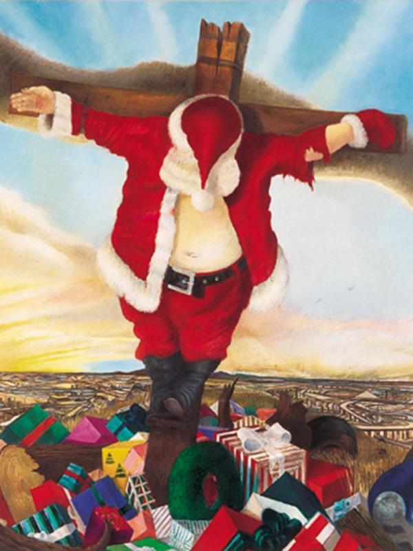 Robert Cenedella's vision of Santa Claus