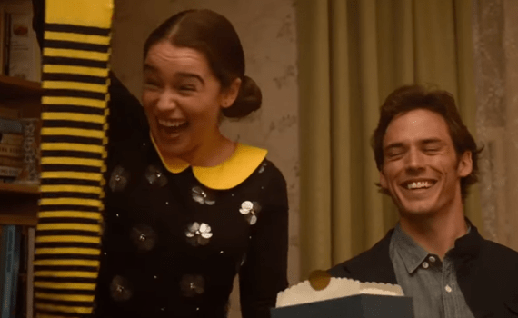 Emilia Clarke and Sam Claflin in 'Me Before You'
