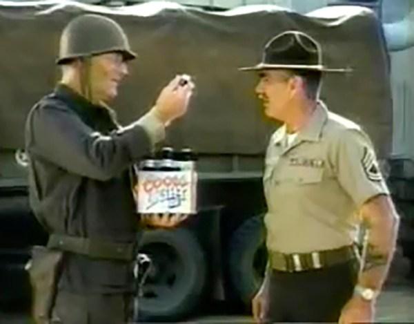 John Wayne opposite R. Lee Ermey in a Coors commercial