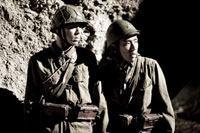Ryo Kase (left) and Kazunari Ninomiya co-star in 'Letters From Iwo Jima'