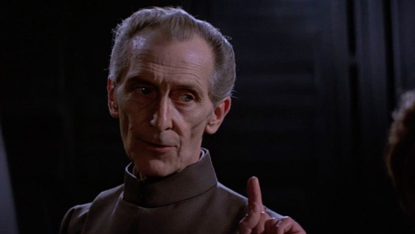 Peter Cushing as Moff Tarkin in 1977's 'Star Wars: Episode IV - A New Hope'