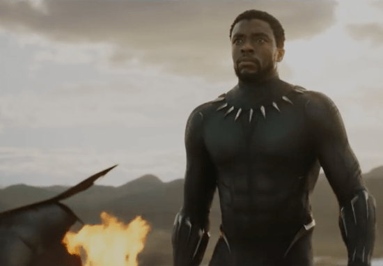 Chadwick Boseman is T'Challa in 'Black Panther'