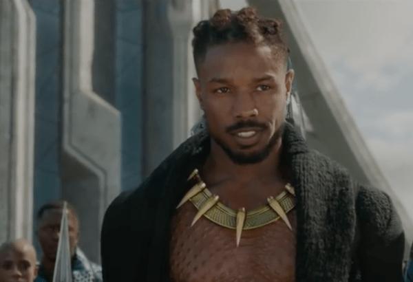 Michael B. Jordan is Erik Killmonger in 'Black Panther'