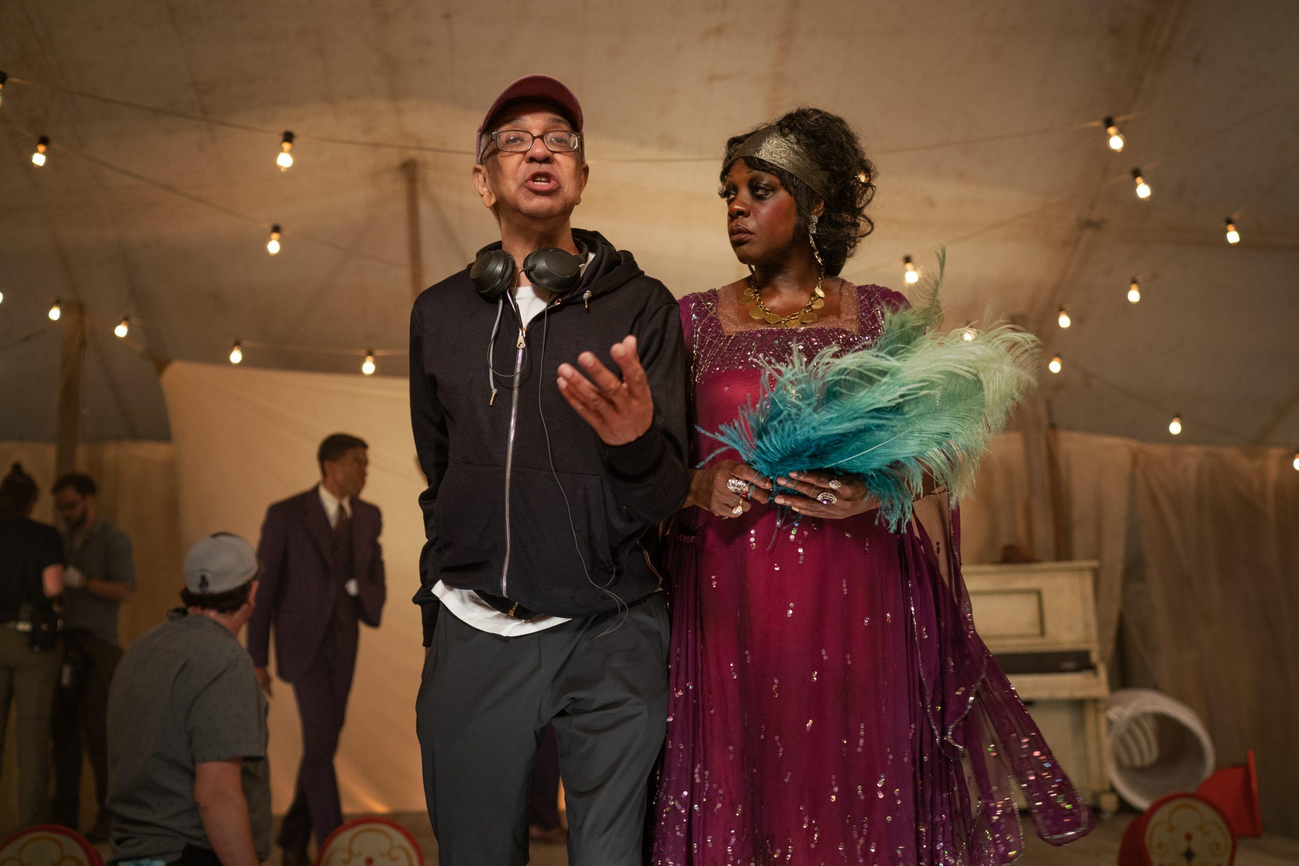 Director George C. Wolfe and Viola Davis on the set of 'Ma Rainey's Black Bottom' (David Lee / Netflix)