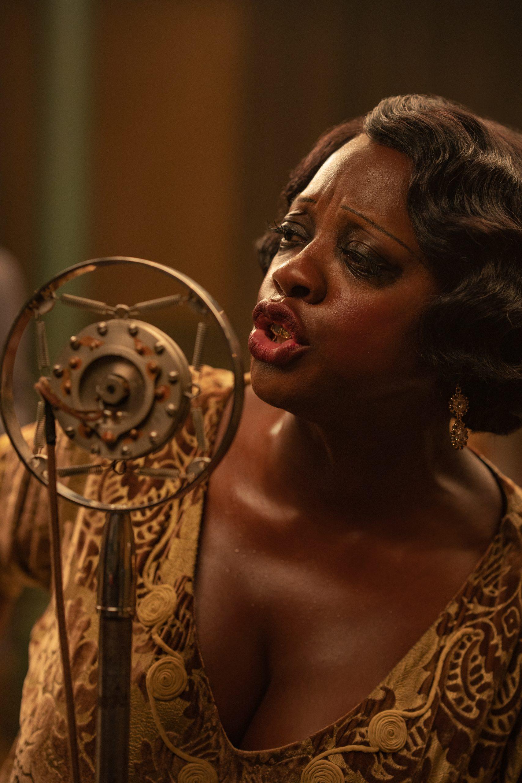 Viola Davis as Ma Rainey in 'Ma Rainey's Black Bottom' on Netflix. (David Lee / Netflix)