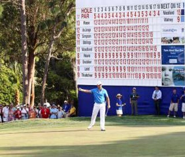 Woodland Tops Leaderboard For First Pga Tour Victory Taipei