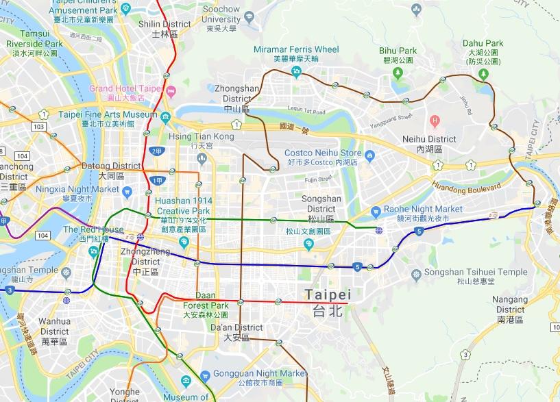 Taipei Map - Taipei Travel Geek