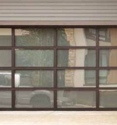 wayne dalton contemporary aluminum doors are made with a rugged anodized aluminum frame featuring equal panel spacing for a clean modern style  [ 1500 x 844 Pixel ]