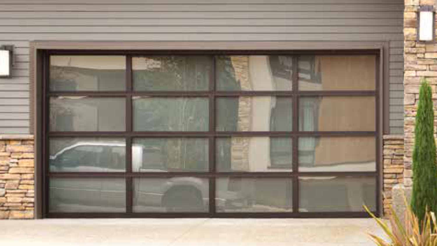 hight resolution of wayne dalton contemporary aluminum doors are made with a rugged anodized aluminum frame featuring equal panel spacing for a clean modern style