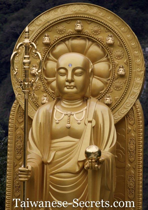 Bodhisattva statue at Xiangde Temple, Tianxiang Taroko