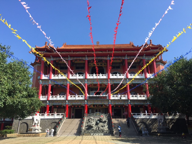Chinese Temple behind Baguashan Statue