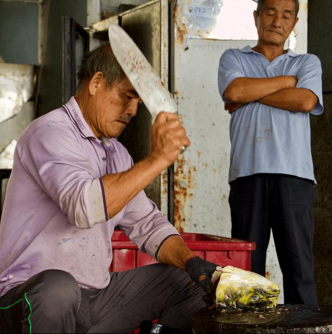 Taiwanese fishermen in chenggong taitung