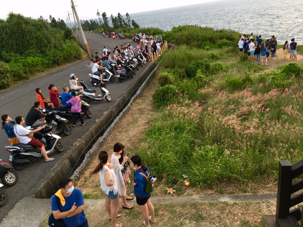 Taiwanese tourists on little liuqiu