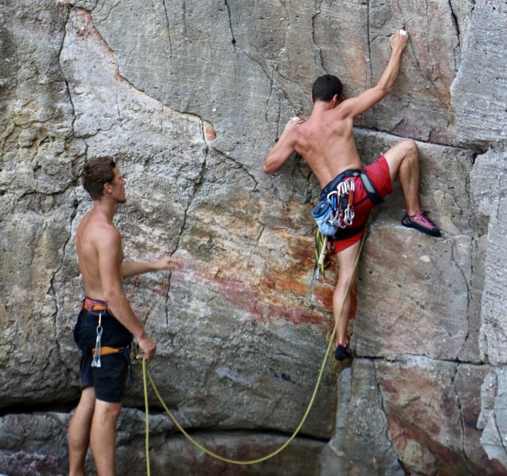 rock climbers in Longdong Taiwan