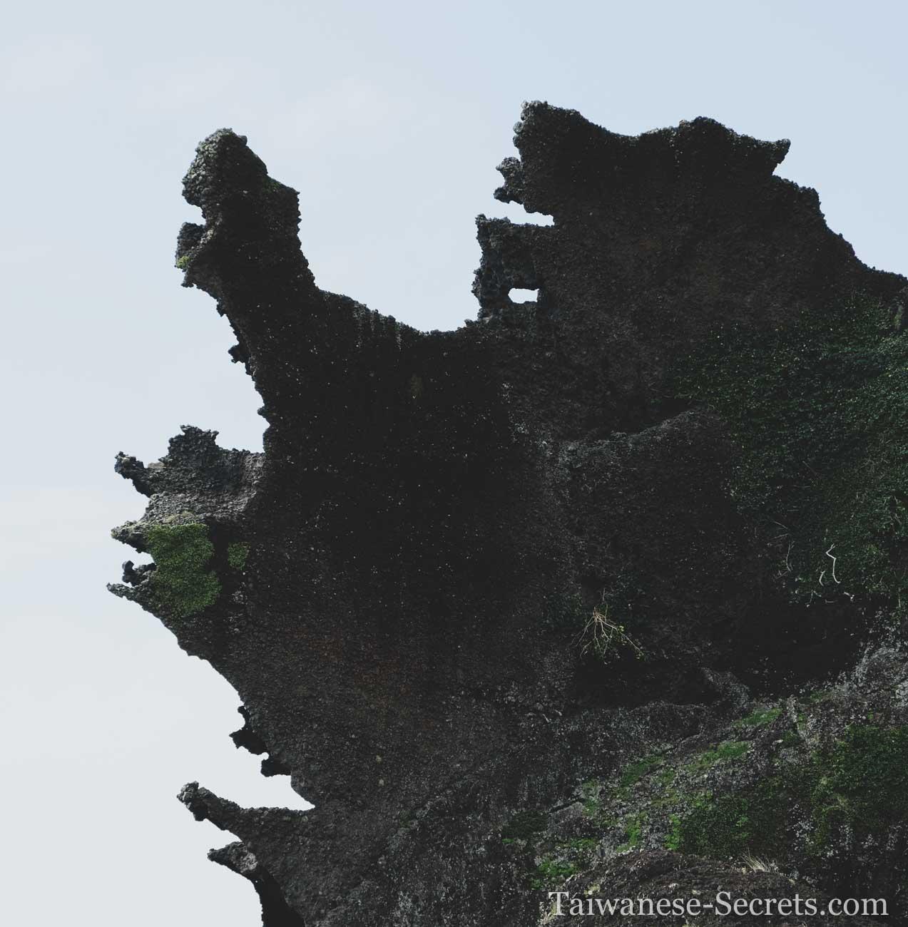 lanyu dragon rock on orchid taiwan