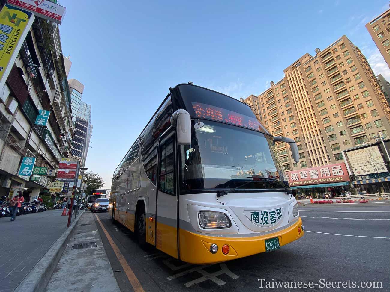 taichung to sun moon lake bus 2020