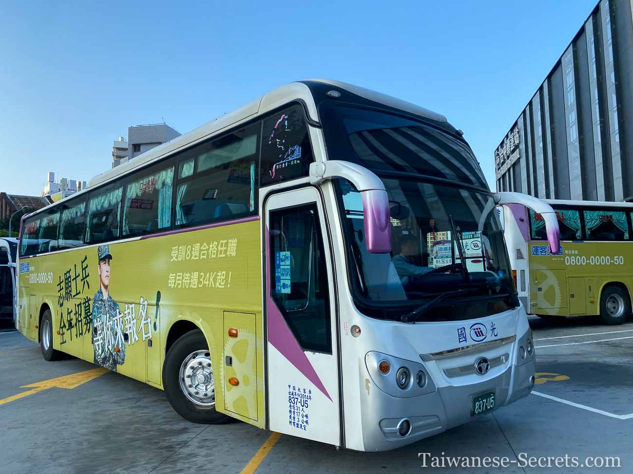 taipei to taichung by bus