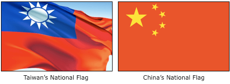 taiwan and china flags