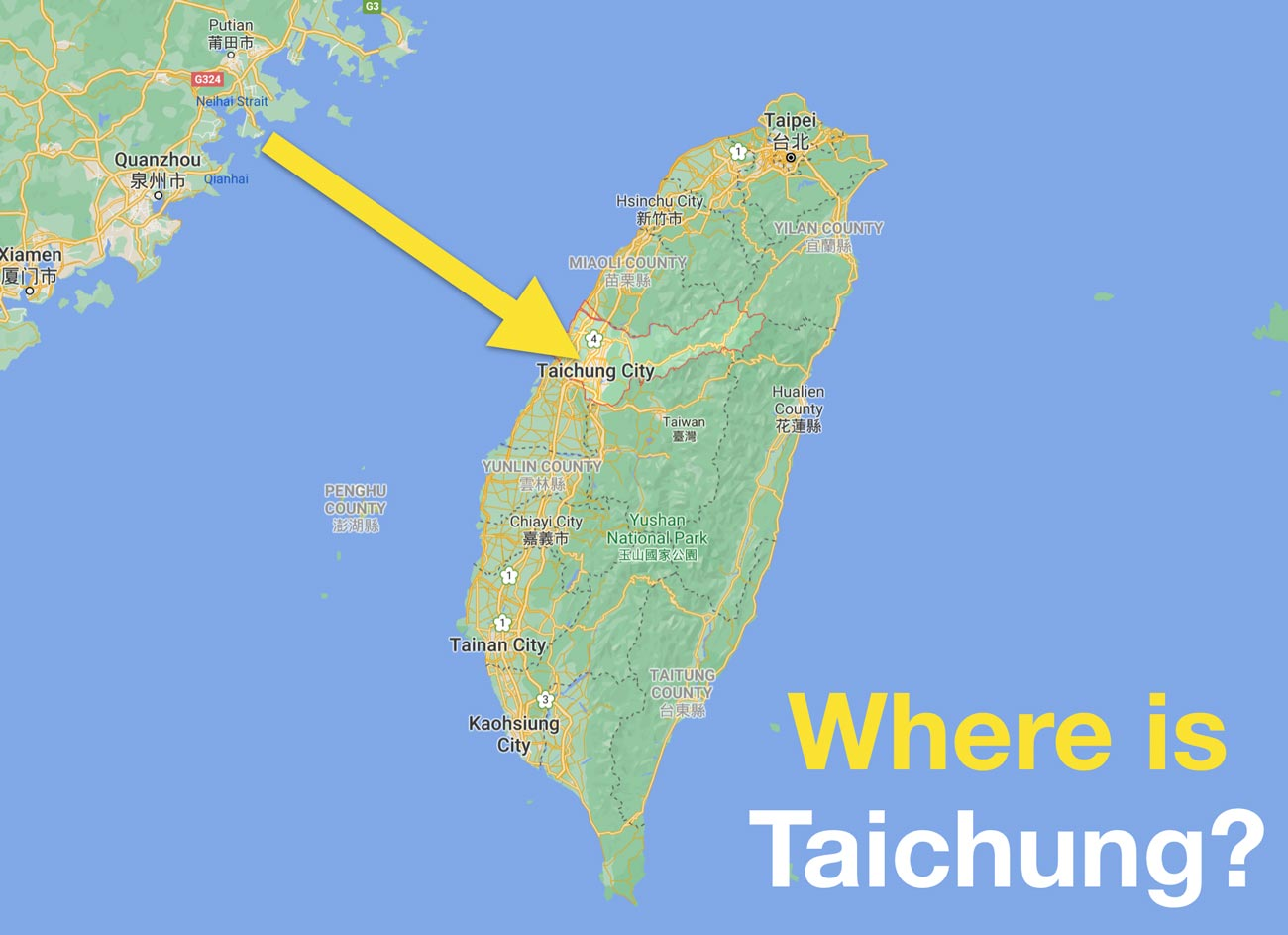 Where is Taichung city