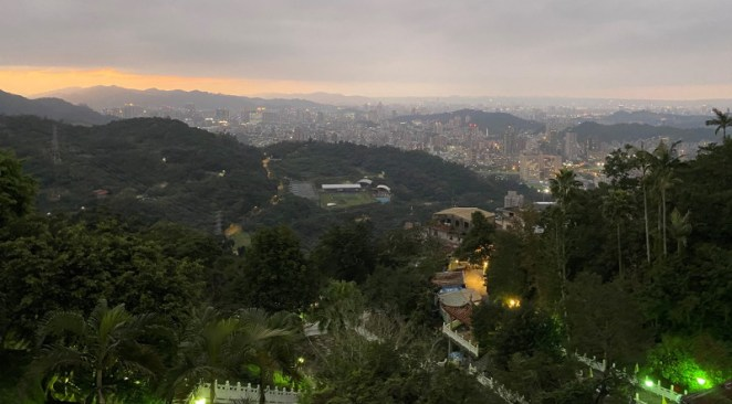 View over Taipei from Chih Nan Temple