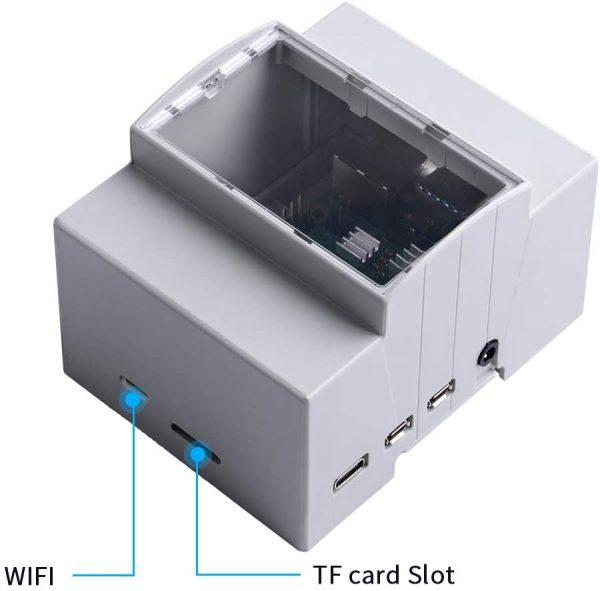 樹莓派 Raspberry Pi 4 Module B 專用 DIN 導軌工控機箱盒 可掛載於滑軌 配電盤 / 電氣箱 / 弱電配電盤 - 臺灣智能感測 ...