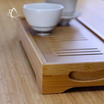 Long Bamboo Tea Tray Detail