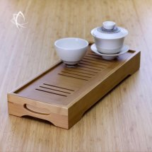 Long Bamboo Tea Tray Featured View