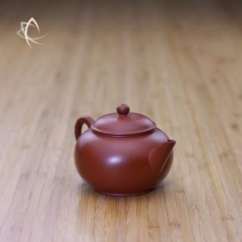 Small Classic Shui Ping Red Clay Teapot Angled View