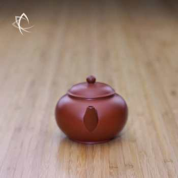 Small Classic Shui Ping Red Clay Teapot Spout View